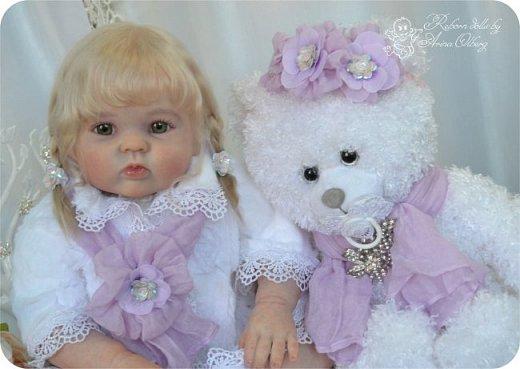 Здравствуйте, девочки! Представляю вашему вниманию очередную новенькую куколку из моей мастерской:) Знакомьтесь, милая, нежная, зеленоглазая Викуля. Рост 63см, вес 3 кг фото 13
