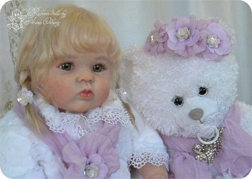Здравствуйте, девочки! Представляю вашему вниманию очередную новенькую куколку из моей мастерской:) Знакомьтесь, милая, нежная, зеленоглазая Викуля. Рост 63см, вес 3 кг фото 14