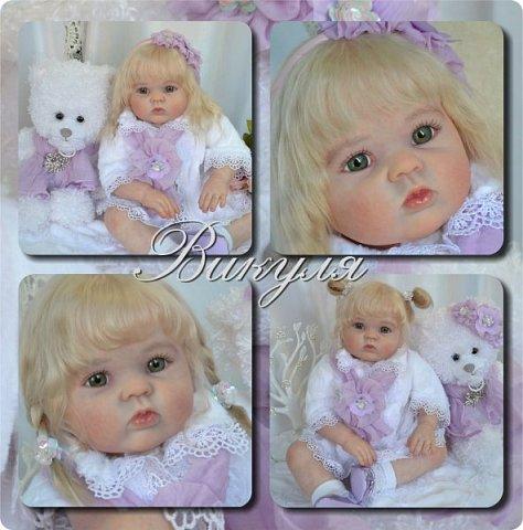 Здравствуйте, девочки! Представляю вашему вниманию очередную новенькую куколку из моей мастерской:) Знакомьтесь, милая, нежная, зеленоглазая Викуля. Рост 63см, вес 3 кг фото 16