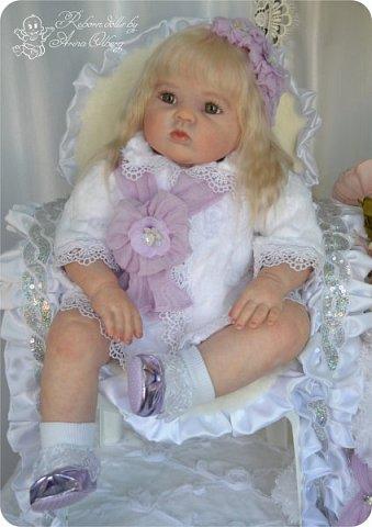 Здравствуйте, девочки! Представляю вашему вниманию очередную новенькую куколку из моей мастерской:) Знакомьтесь, милая, нежная, зеленоглазая Викуля. Рост 63см, вес 3 кг фото 3