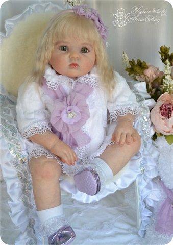 Здравствуйте, девочки! Представляю вашему вниманию очередную новенькую куколку из моей мастерской:) Знакомьтесь, милая, нежная, зеленоглазая Викуля. Рост 63см, вес 3 кг фото 4
