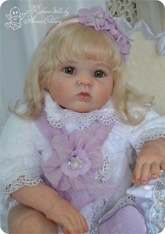 Здравствуйте, девочки! Представляю вашему вниманию очередную новенькую куколку из моей мастерской:) Знакомьтесь, милая, нежная, зеленоглазая Викуля. Рост 63см, вес 3 кг фото 5