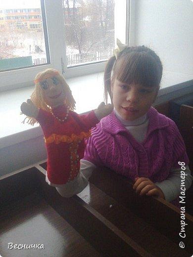 Здравствуйте, жители страны Мастеров! Вот таких перчаточных кукол сделала на конкурс. По рассказам нашего местного писателя Афоньшина С.В. Матрёнка и Дёмка.  фото 3