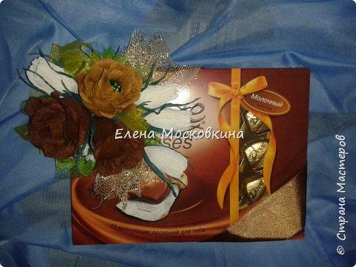букеты из конфет. упаковка подарка фото 1
