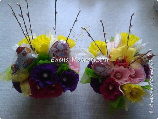 букеты из конфет в корзинке фото 2