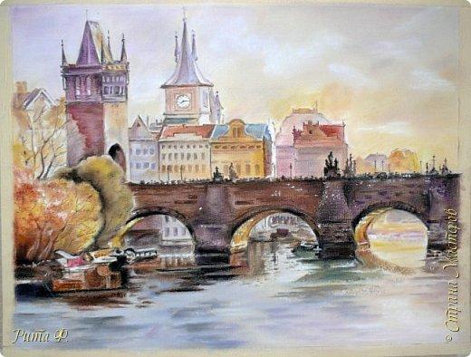 Рисовала с акварели художника В. Макового. Вот что у меня получилось... Рисунок большой 65 на 55. Еще даже скотч малярный не сняла)))