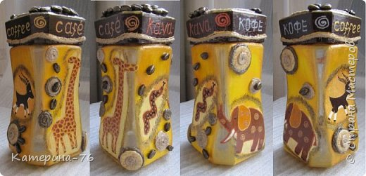 Всем доброго времени суток! Хочу показать Вам очередную африканскую баночку для кофе. Делала её для своей любимой свекрови. Вот смотрите что получилось... фото 3