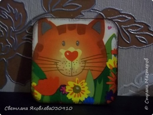 Рамочки для фото - салфетка, краски, лак фото 5