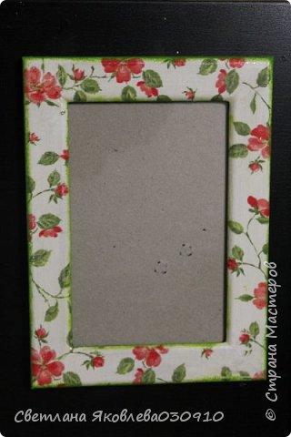 Рамочки для фото - салфетка, краски, лак фото 2