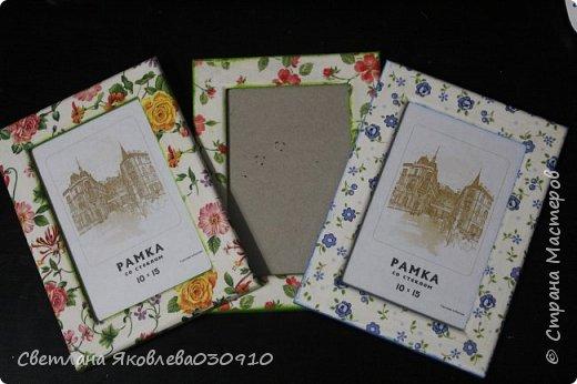 Рамочки для фото - салфетка, краски, лак фото 1