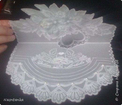 Открытка конверт в технике пергамано на свадьбу фото 1