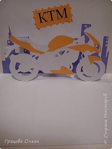 Мужская открытка с мотоциклом фото 3
