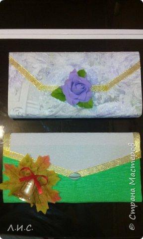 Вот такие получились клатчи в подарок учителям по вокалу и в художественной школе. фото 3