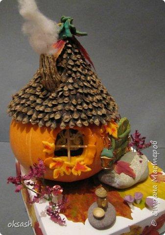 Домик Осени -поделка в детский сад фото 1