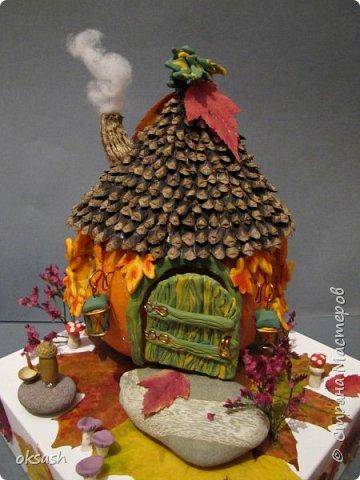 Домик Осени -поделка в детский сад фото 2