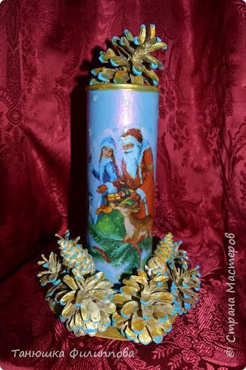 Новогодняя ваза фото 2