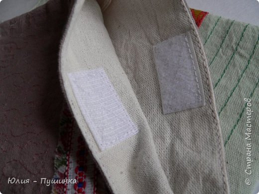 сумочки из тонированной бязи, украшены тесьмой, бахромой, отстрочкой и стежкой, ручки регулируются фото 3