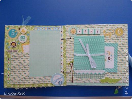 Альбом для крестника от рождения до года...На каждой страничке от 3-ех до 5-ти фотографий... фото 6