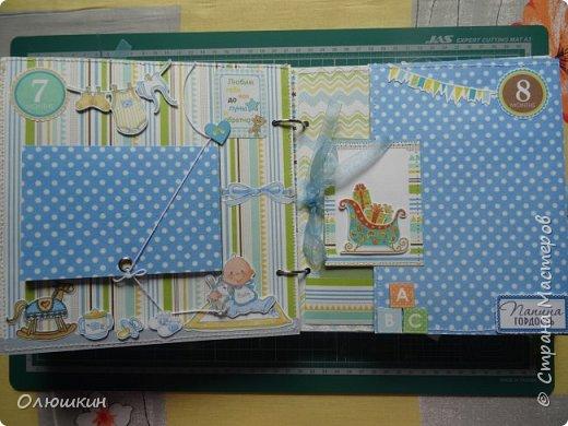 Альбом для крестника от рождения до года...На каждой страничке от 3-ех до 5-ти фотографий... фото 7