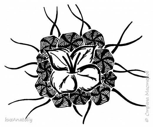 Как нарисовать дафну - Дафна в стиле зентангл