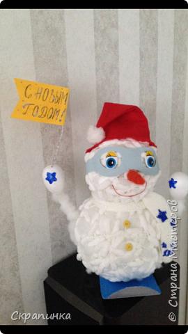 Снеговик-сноубордист