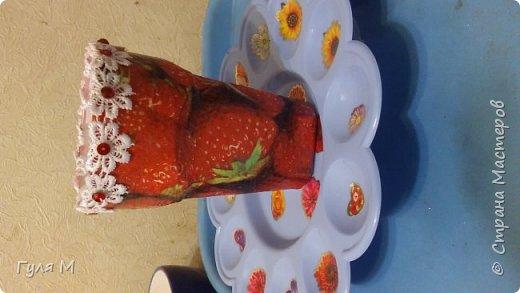 Вот такую вазочку сделали с дочей в школу. Можно использовать и как карандашницу))) фото 2