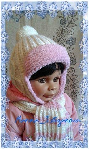 Представляю вашему вниманию свою очередную работу. Наступили холода и пришло время вязать теплые вещички . Эта шапка на зиму для моей внучатой племянницы Дашульки.  фото 3