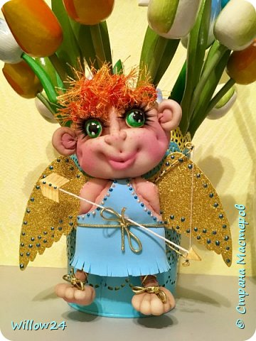 Ангелочки в подарок по МК Елены Ауловой.  фото 2