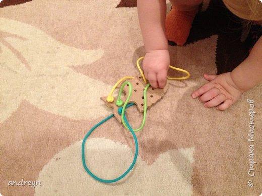 """Здравствуйте. Вот такую шнуровку """"Рыбка"""" сделал детям. Рыбку купил в магазине для творчества и рукоделия.  фото 5"""