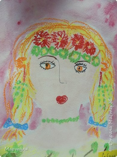 Рисовали с детьми подготовительной группы красавицу Осень масляной пастелью, лист тонировали акварелью. фото 7