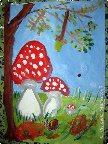 """Благодаря работе Марины """"Мы рисуем осень"""" (http://stranamasterov.ru/node/1049345), у нас тоже появилась своя осенняя рощица. Первая работа моя, потом немного детских (возраст 5-6 лет). фото 26"""
