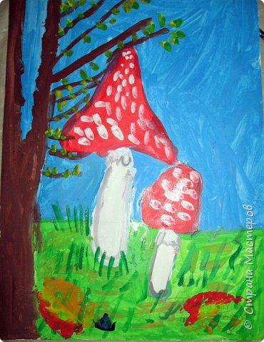 """Благодаря работе Марины """"Мы рисуем осень"""" (http://stranamasterov.ru/node/1049345), у нас тоже появилась своя осенняя рощица. Первая работа моя, потом немного детских (возраст 5-6 лет). фото 25"""