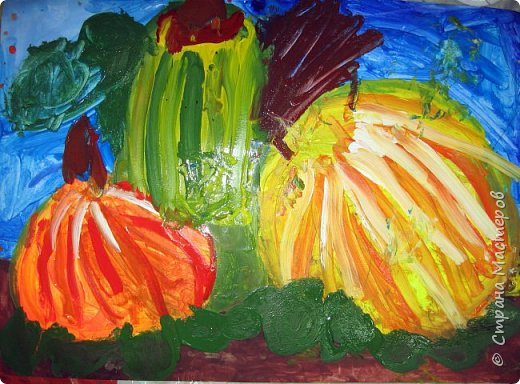 """Благодаря работе Марины """"Мы рисуем осень"""" (http://stranamasterov.ru/node/1049345), у нас тоже появилась своя осенняя рощица. Первая работа моя, потом немного детских (возраст 5-6 лет). фото 11"""