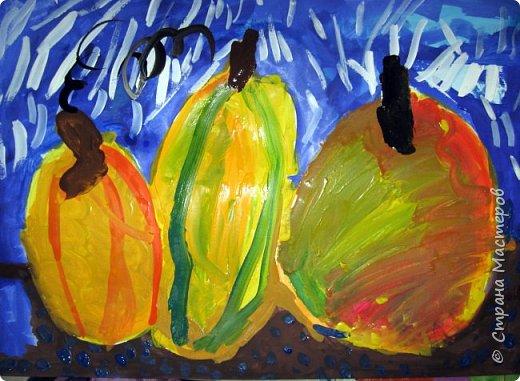 """Благодаря работе Марины """"Мы рисуем осень"""" (http://stranamasterov.ru/node/1049345), у нас тоже появилась своя осенняя рощица. Первая работа моя, потом немного детских (возраст 5-6 лет). фото 12"""