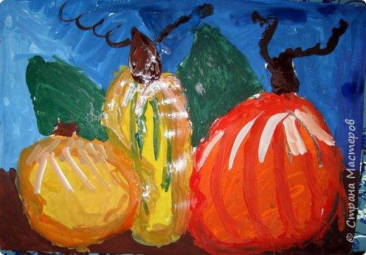 """Благодаря работе Марины """"Мы рисуем осень"""" (http://stranamasterov.ru/node/1049345), у нас тоже появилась своя осенняя рощица. Первая работа моя, потом немного детских (возраст 5-6 лет). фото 13"""