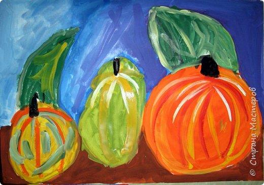 """Благодаря работе Марины """"Мы рисуем осень"""" (http://stranamasterov.ru/node/1049345), у нас тоже появилась своя осенняя рощица. Первая работа моя, потом немного детских (возраст 5-6 лет). фото 14"""