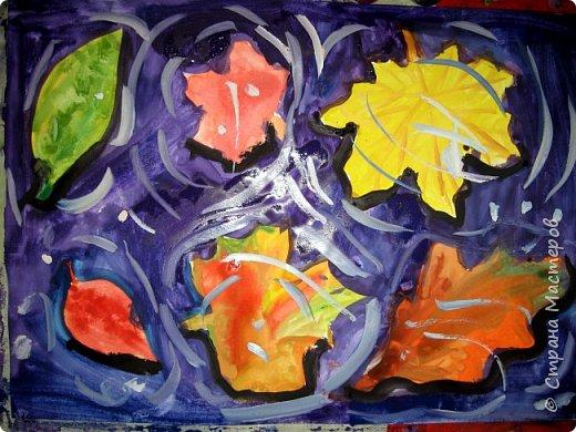 """Благодаря работе Марины """"Мы рисуем осень"""" (http://stranamasterov.ru/node/1049345), у нас тоже появилась своя осенняя рощица. Первая работа моя, потом немного детских (возраст 5-6 лет). фото 16"""