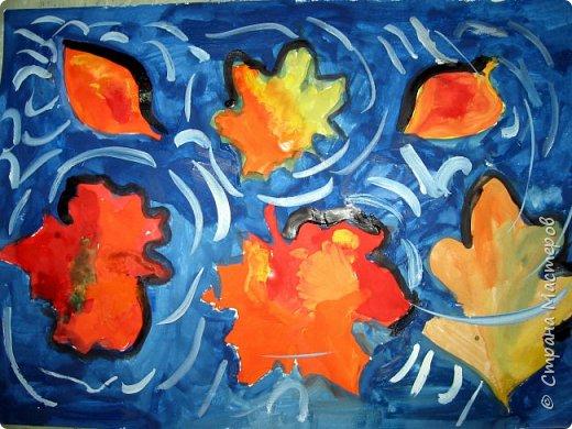 """Благодаря работе Марины """"Мы рисуем осень"""" (http://stranamasterov.ru/node/1049345), у нас тоже появилась своя осенняя рощица. Первая работа моя, потом немного детских (возраст 5-6 лет). фото 17"""