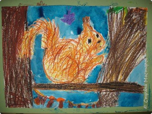 """Благодаря работе Марины """"Мы рисуем осень"""" (http://stranamasterov.ru/node/1049345), у нас тоже появилась своя осенняя рощица. Первая работа моя, потом немного детских (возраст 5-6 лет). фото 19"""