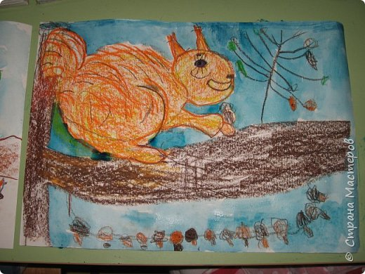 """Благодаря работе Марины """"Мы рисуем осень"""" (http://stranamasterov.ru/node/1049345), у нас тоже появилась своя осенняя рощица. Первая работа моя, потом немного детских (возраст 5-6 лет). фото 20"""
