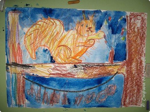 """Благодаря работе Марины """"Мы рисуем осень"""" (http://stranamasterov.ru/node/1049345), у нас тоже появилась своя осенняя рощица. Первая работа моя, потом немного детских (возраст 5-6 лет). фото 22"""