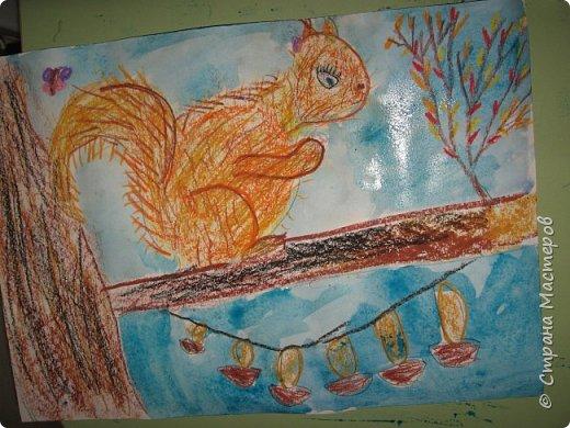 """Благодаря работе Марины """"Мы рисуем осень"""" (http://stranamasterov.ru/node/1049345), у нас тоже появилась своя осенняя рощица. Первая работа моя, потом немного детских (возраст 5-6 лет). фото 23"""