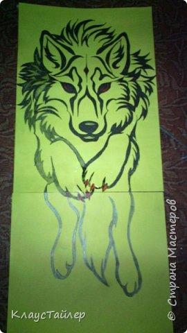 Привет друзья и не только, в общем всем кто заглянул. Это просто рисунок, было нечего делать решил поучиться рисовать волков В общем смотрите сами. фото 7