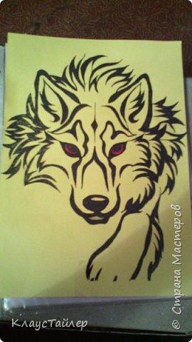 Привет друзья и не только, в общем всем кто заглянул. Это просто рисунок, было нечего делать решил поучиться рисовать волков В общем смотрите сами. фото 5