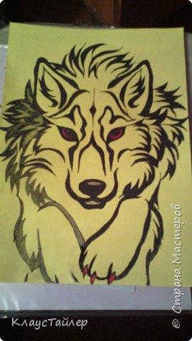 Привет друзья и не только, в общем всем кто заглянул. Это просто рисунок, было нечего делать решил поучиться рисовать волков В общем смотрите сами. фото 6