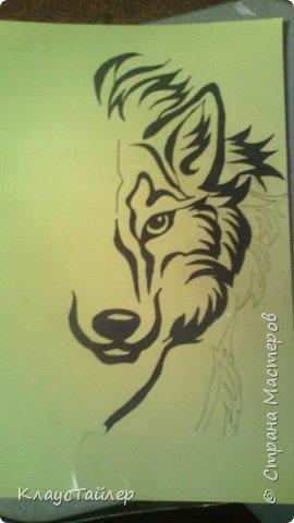 Привет друзья и не только, в общем всем кто заглянул. Это просто рисунок, было нечего делать решил поучиться рисовать волков В общем смотрите сами. фото 1
