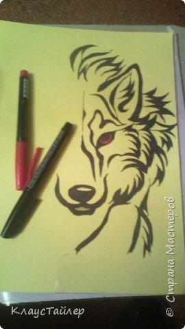 Привет друзья и не только, в общем всем кто заглянул. Это просто рисунок, было нечего делать решил поучиться рисовать волков В общем смотрите сами. фото 2