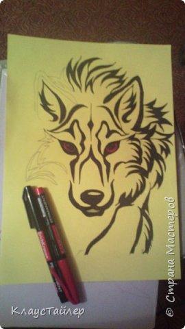 Привет друзья и не только, в общем всем кто заглянул. Это просто рисунок, было нечего делать решил поучиться рисовать волков В общем смотрите сами. фото 4
