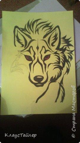 Привет друзья и не только, в общем всем кто заглянул. Это просто рисунок, было нечего делать решил поучиться рисовать волков В общем смотрите сами. фото 3