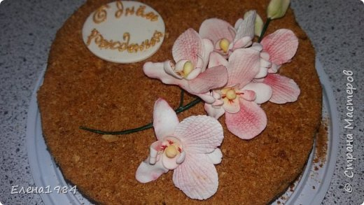 Орхидея из мастики  фото 3
